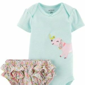 CATER'S 2-Piece Dog Bodysuit & Diaper Cover Set